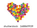 Heart Made Of Colored Smarties...