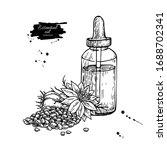 nigella sativa essential oil... | Shutterstock .eps vector #1688702341