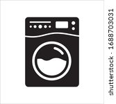 washer vector icon. washer flat ... | Shutterstock .eps vector #1688703031