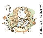 children's zodiac. sign of... | Shutterstock .eps vector #1688703961