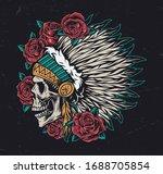 wild west vintage colorful... | Shutterstock .eps vector #1688705854