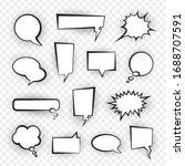comic speech bubble set  talk...   Shutterstock .eps vector #1688707591