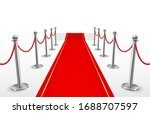 red carpet with barriers for...   Shutterstock .eps vector #1688707597