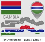colorful flag  map pointer  map ... | Shutterstock .eps vector #1688712814