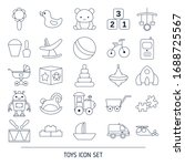 set of baby toy line icons.... | Shutterstock .eps vector #1688725567