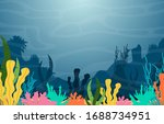 marine coral reef underwater... | Shutterstock .eps vector #1688734951