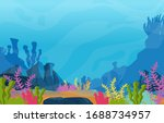 marine coral reef underwater... | Shutterstock .eps vector #1688734957