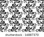 cockerels   seamless wallpaper...   Shutterstock .eps vector #16887370