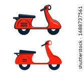 flat style scooter icon.... | Shutterstock .eps vector #1688737561