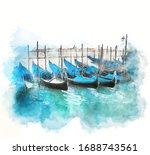 Venice  Italy   Watercolor...