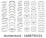 calligraphic design elements .... | Shutterstock .eps vector #1688750131