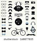 hipster black and white retro... | Shutterstock .eps vector #168877835
