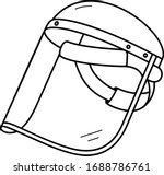 clear safety shield screen mask ... | Shutterstock .eps vector #1688786761