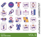 diving icons including single... | Shutterstock .eps vector #1688825707