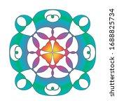 mandala. ornament geometric... | Shutterstock . vector #1688825734