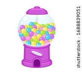 old fashioned gumball machine.... | Shutterstock .eps vector #1688839051