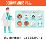 medical worker  doctor give a... | Shutterstock .eps vector #1688839741