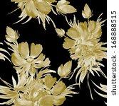 seamless floral pattern gold | Shutterstock . vector #168888515