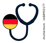 germany national flag on... | Shutterstock .eps vector #1688902177