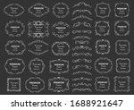 calligraphic design elements .... | Shutterstock .eps vector #1688921647