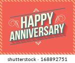 vintage retro happy anniversary ...   Shutterstock .eps vector #168892751