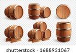 Wooden Barrels Realistic Set Of ...