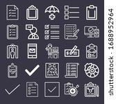 set of 25 check outline icons...   Shutterstock . vector #1688952964