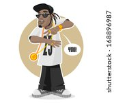 black guy   rapper | Shutterstock .eps vector #168896987