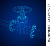 oil pipeline with valve... | Shutterstock .eps vector #1688974777