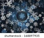 blue christmas balls on... | Shutterstock . vector #168897935