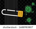 corona virus lock down symbol.... | Shutterstock .eps vector #1688983807