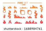 fire flame set isolated. icons. ...