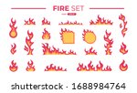 fire flame set isolated. icons. ... | Shutterstock .eps vector #1688984764
