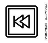 previous vector thin line icon