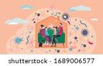 stay home vector illustration.... | Shutterstock .eps vector #1689006577