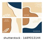 a set of postcards with... | Shutterstock .eps vector #1689013144