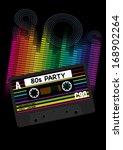 eighties party background  ... | Shutterstock . vector #168902264