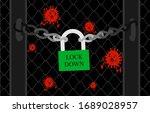 corona virus lock down symbol.... | Shutterstock .eps vector #1689028957
