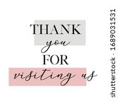 thank you for visiting us...   Shutterstock .eps vector #1689031531
