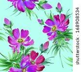seamless floral pattern bouquet | Shutterstock . vector #168908534