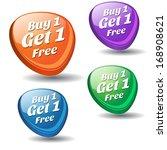 buy 2 get 1 colorful vector... | Shutterstock .eps vector #168908621