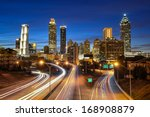 Atlanta downtown skyline during ...