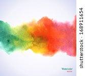 watercolor rainbow border.... | Shutterstock .eps vector #168911654