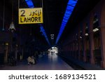 a railway station is deserted... | Shutterstock . vector #1689134521