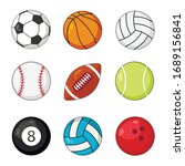 sports balls icon vector set...