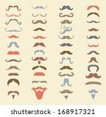 colorful hipster moustache icon ...