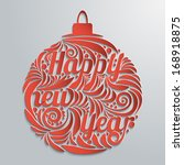 new year greeting card in the... | Shutterstock .eps vector #168918875