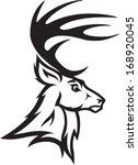 Deer Head Illustrated Deer Bus...