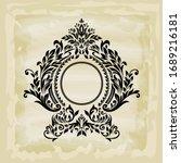 rococo texture pattern vector.... | Shutterstock .eps vector #1689216181