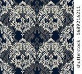 rococo texture pattern vector.... | Shutterstock .eps vector #1689216211